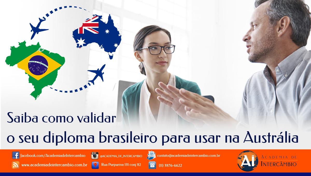 Como validar o diploma Brasileiro para usar na Austrália